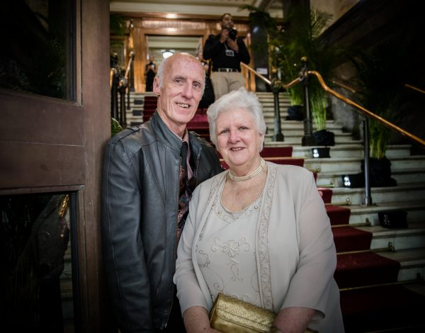 John Eastwood and his sister arrive at The Coming Back Out Ball. Image by Bryony Jackson.