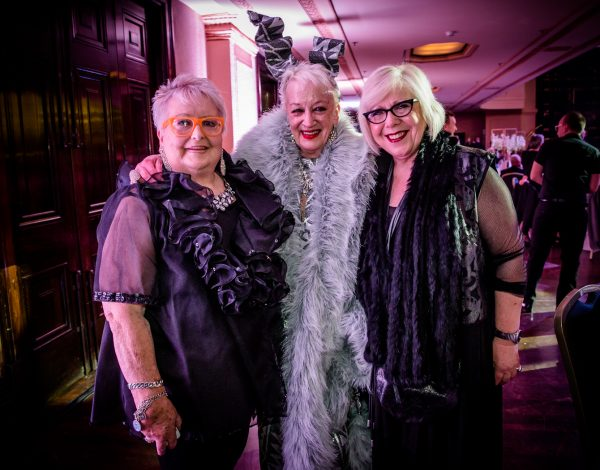 Yvonne Gardner and friends at The Coming Back Out Ball. Photo by Bryony Jackson.